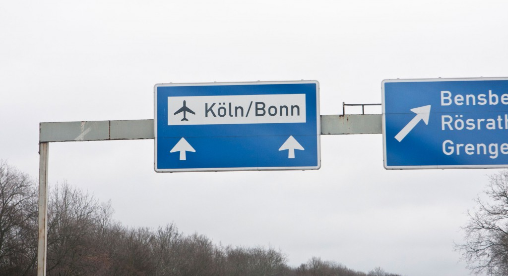 Airport Sign On The Motorway