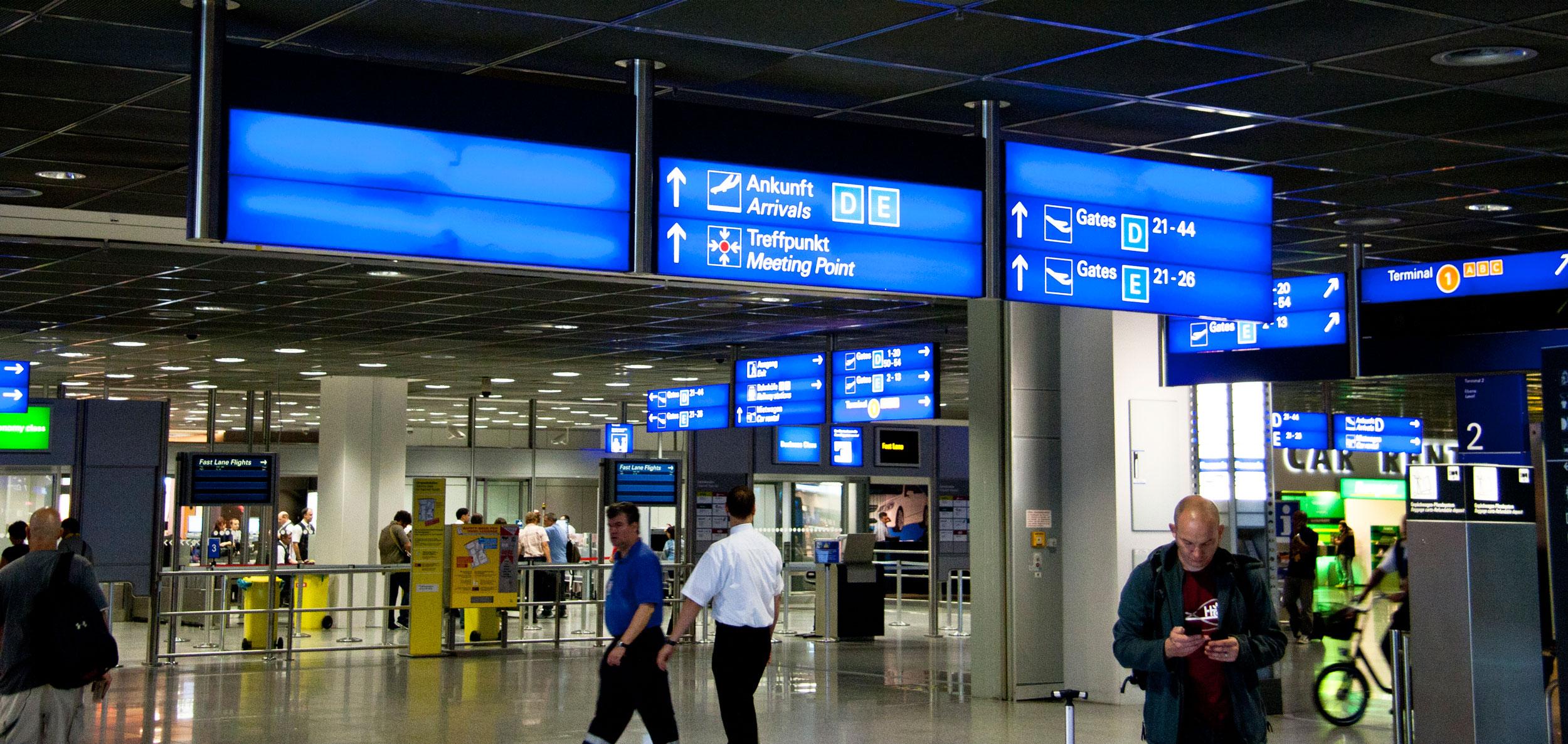 frankfurt airport ankunft